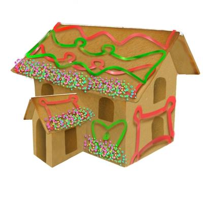 Click to get Build Your Own Mini Gingerbread House