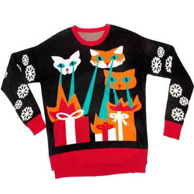 Click to get Knit Ugly Holiday Sweater Laser CatZillas
