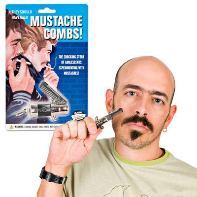 Click to get Switchblade Mustache Comb