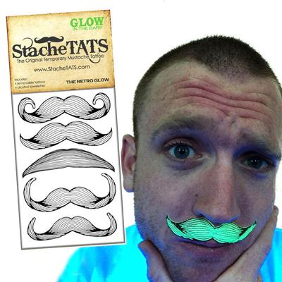 Click to get Stache Tats Glow in the Dark Mustache Tattoos Retro Style