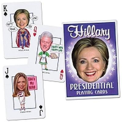 Click to get Hillary Presidential Playing Cards