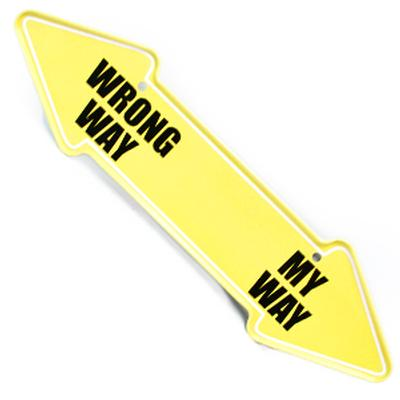 Click to get Wrong Way or My Way Magnet
