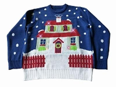 Click to get Light Up Ugly Christmas Sweater House With Too Many Lights