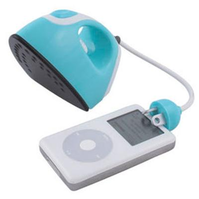 Click to get Iron Shaped Alarm Clock Radio  Teal