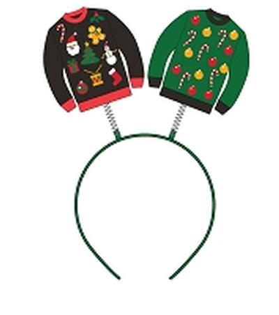 Click to get Ugly Christmas Sweater Headband Boppers