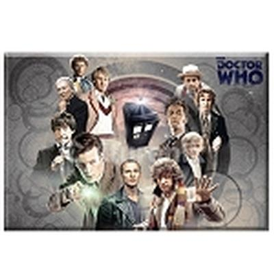 Click to get Doctor Who Magnet Collage of all Doctors Gray