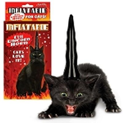 Click to get Inflatable Unicorn Horn for Evil Cats