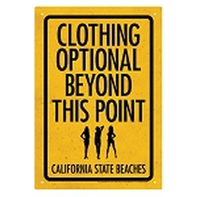 Click to get Clothing Optional Tin Sign
