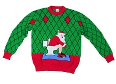 Click to get Kids Ugly Christmas Sweater Toilet Santa