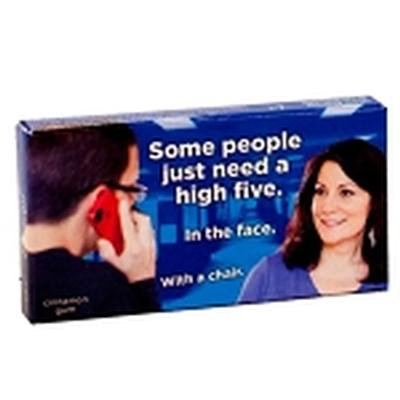 Click to get Some People Just Need a High Five in the Face Gum